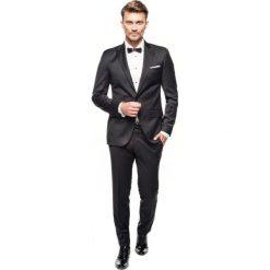 Garnitur winchell 311 czarny slim fit. Czarne garnitury Recman, z wełny. Za 969,00 zł.