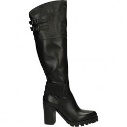 Kozaki - 773 PELL NERO. Czarne buty zimowe damskie Venezia, ze skóry. Za 289,00 zł.