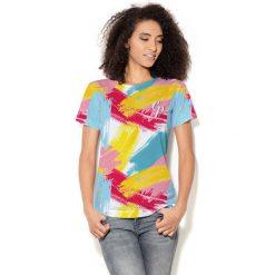 Colour Pleasure Koszulka damska CP-030 275 niebiesko-różowa r. M/L. Fioletowe bluzki damskie marki Colour pleasure, uniwersalny. Za 70,35 zł.