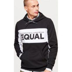 Bluza z kolekcji EQUAL - Czarny. Czarne bluzy męskie rozpinane marki Cropp, l. Za 129,99 zł.