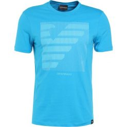 Emporio Armani LOGO Tshirt z nadrukiem blu gioiello. Szare koszulki polo marki Emporio Armani, l, z bawełny, z kapturem. Za 359,00 zł.