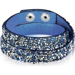 Bransoletki damskie na nogę: Bransoletka w kolorze niebieskim ze szklanymi kryształkami