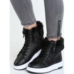 Sneakersy damskie: Czarne Sneakersy Expectancy