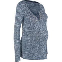 Swetry klasyczne damskie: Lekki sweter ciążowy i do karmienia piersią bonprix indygo melanż