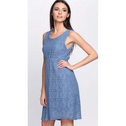 Sukienki: Niebieska Sukienka Dazzling Sky