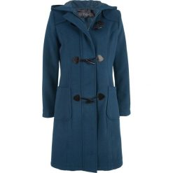 Płaszcz wełniany budrysówka bonprix ciemnoniebieski. Niebieskie płaszcze damskie wełniane marki bonprix. Za 249,99 zł.