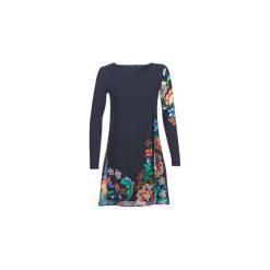 Sukienki krótkie Desigual  UTHA. Szare sukienki mini Desigual, z krótkim rękawem. Za 395,10 zł.