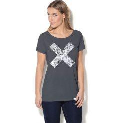 Colour Pleasure Koszulka damska CP-034  39 szaro-biała r. XS-S. Białe bluzki damskie marki Colour pleasure, s. Za 70,35 zł.