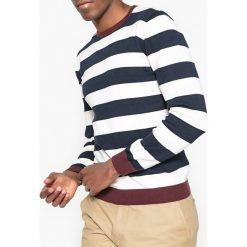 Kardigany męskie: Sweter w paski z okrągłym dekoltem