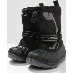 Kamik SNOWCOAST4 Śniegowce black. Czarne buty zimowe damskie marki Kamik, z materiału. W wyprzedaży za 203,40 zł.