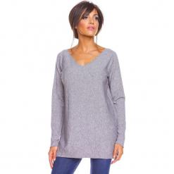 """Sweter """"Salsa"""" w kolorze szarym. Szare swetry oversize damskie marki So Cachemire, s, z kaszmiru. W wyprzedaży za 173,95 zł."""