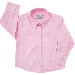 Koszula nakrapiana jasnoróżowa NDZ3803. Czarne koszule chłopięce marki Fasardi, m, z dresówki. Za 69,00 zł.