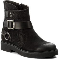Botki NESSI - 678/O Czarny 9/ST. Czarne buty zimowe damskie marki Nessi, z materiału, na obcasie. W wyprzedaży za 219,00 zł.