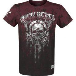 T-shirty męskie z nadrukiem: Rock Rebel by EMP Rebel Soul T-Shirt czarny/bordowy