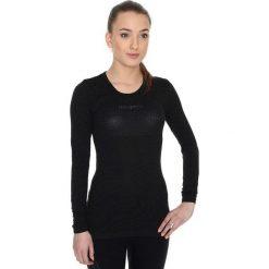 Bluzki sportowe damskie: Brubeck Koszulka unisex z długim rękawem czarna r. L (LS10850)