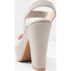 Rzymianki damskie: Shoe The Bear SANDY Sandały na obcasie light grey