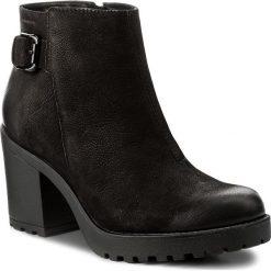 Botki VAGABOND - Grace 4456-150-20 Black. Czarne buty zimowe damskie marki Vagabond, z nubiku, na obcasie. W wyprzedaży za 279,00 zł.