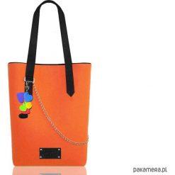 Torebki klasyczne damskie: Pomarańczowa torba z filcu