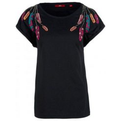 S.Oliver T-Shirt Damski 34 Czarny. Czarne t-shirty damskie S.Oliver, s, z bawełny. Za 100,00 zł.
