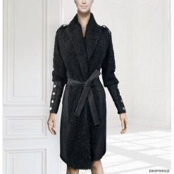 Płaszcz Noir. Szare płaszcze damskie wełniane marki bonprix. Za 472,00 zł.