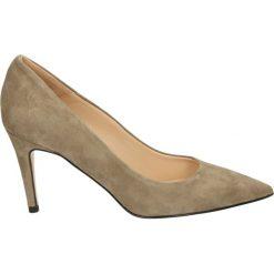 Czółenka - 0954 CAM TAUP. Brązowe buty ślubne damskie Venezia, ze skóry. Za 349,00 zł.