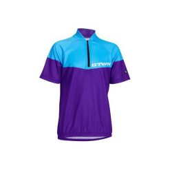 Koszulka krótki rękaw 500 JR. Niebieskie t-shirty chłopięce B'TWIN, z materiału. Za 69,99 zł.