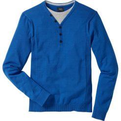 Swetry klasyczne męskie: Sweter 2 w 1 Regular Fit bonprix lazurowy