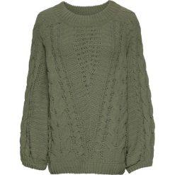 Swetry damskie: Sweter bonprix oliwkowy