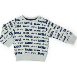 Bluza w kolorze szaro-granatowym. Niebieskie bluzy chłopięce marki Street Monkey, z bawełny. W wyprzedaży za 49,95 zł.