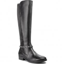 Oficerki CAPRICE - 9-25509-21 Black Nappa 022. Czarne buty zimowe damskie Caprice, z materiału, przed kolano, na wysokim obcasie, na obcasie. Za 549,90 zł.