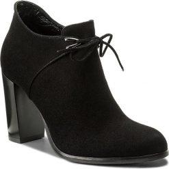 Botki KOTYL - 9705 Czarny Zamsz. Czarne buty zimowe damskie Kotyl, ze skóry, na obcasie. W wyprzedaży za 289,00 zł.