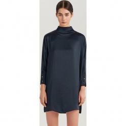 Elegancka sukienka mini ReDesign - Granatowy. Niebieskie sukienki balowe Reserved, l, mini. Za 199,99 zł.