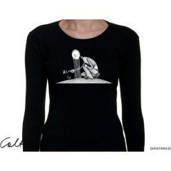 Kwiat - damska koszulka z długim rękawem. Czarne t-shirty damskie marki KIPSTA, m, z elastanu, z długim rękawem, na fitness i siłownię. Za 79,00 zł.