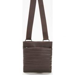 Torba na ramię - Brązowy. Brązowe torby na ramię męskie marki Reserved, na ramię. Za 129,99 zł.