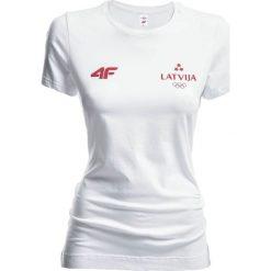 Bluzki damskie: Koszulka damska Łotwa Pyeongchang 2018 TSD800 – biały