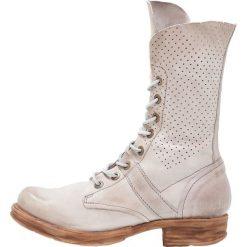 A.S.98 Kozaki sznurowane grigio. Szare buty zimowe damskie A.S.98, z materiału. W wyprzedaży za 678,30 zł.