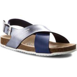 Sandały PEPE JEANS - Bio Cross PGS90098 Electric Blu 554. Niebieskie sandały damskie Pepe Jeans, z jeansu. Za 189,00 zł.