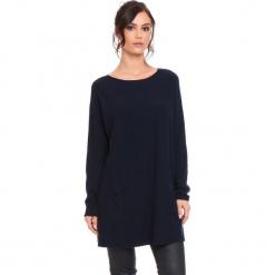 """Sweter """"Marlone"""" w kolorze granatowym. Niebieskie swetry klasyczne damskie marki Cosy Winter, s, ze splotem, z okrągłym kołnierzem. W wyprzedaży za 181,95 zł."""