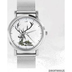 Zegarki męskie: Zegarek – Jeleń – metalowy