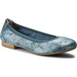Baleriny CAPRICE - 9-22100-28 Ocean Comb 880. Niebieskie baleriny damskie zamszowe marki Caprice. W wyprzedaży za 149,00 zł.