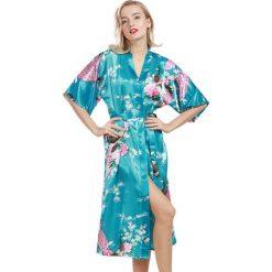 Szlafroki kimona damskie: Szlafrok w kolorze turkusowym