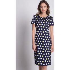 Bawełniana dopasowana sukienka z krótkim rękawem BIALCON. Czerwone sukienki mini marki BIALCON, na co dzień, oversize. Za 309,00 zł.