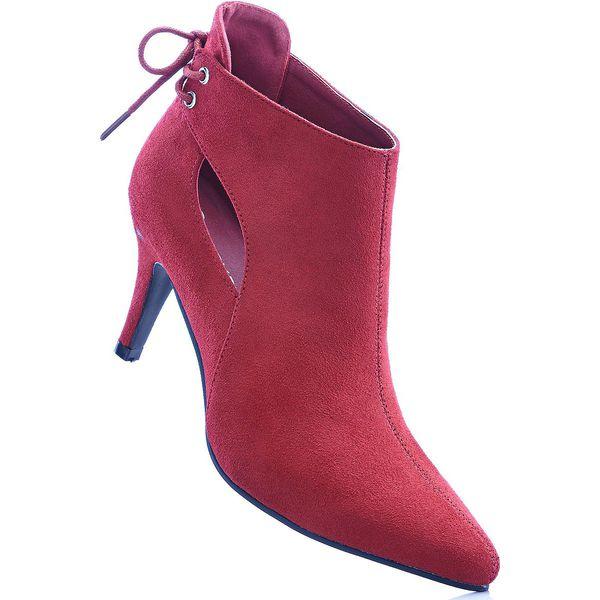 83bb04c170d46 Czerwone botki damskie na obcasie - Zniżki do 70%! - Kolekcja wiosna 2019 -  myBaze.com
