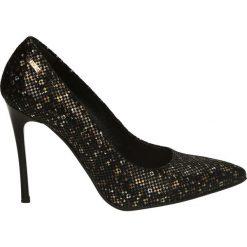 Czółenka - 5043 682 MULT. Czarne buty ślubne damskie Venezia, ze skóry. Za 199,00 zł.