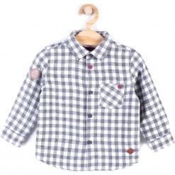 Koszula. Szare koszule chłopięce z długim rękawem marki UP ALL NIGHT, z bawełny. Za 29,90 zł.