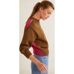 Mango - Sweter Colors. Szare swetry klasyczne damskie Mango, l, z bawełny. W wyprzedaży za 99,90 zł.