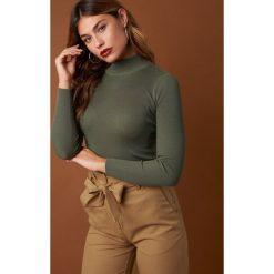 Swetry damskie: NA-KD Trend Sweter z golfem - Green