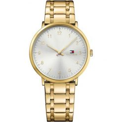 Tommy Hilfiger - Zegarek 1791337. Szare zegarki męskie marki TOMMY HILFIGER, m, z nadrukiem, z bawełny, casualowe, z okrągłym kołnierzem. Za 749,90 zł.