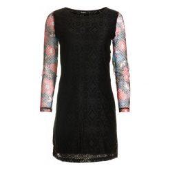 Desigual Sukienka Damska Pichi Ml 42 Czarny. Szare sukienki marki Desigual, l, z tkaniny, casualowe, z długim rękawem. W wyprzedaży za 269,00 zł.