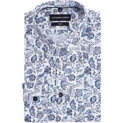 Koszula SIMONE KDWS000177. Białe koszule męskie na spinki Giacomo Conti, m, z bawełny, z klasycznym kołnierzykiem. Za 199,00 zł.